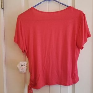 Self Esteem Tops - Self Esteem _Coral wrap blouse